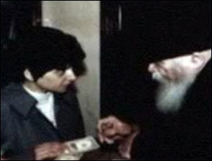 Yehudis with the Rebbe.
