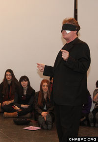 A mentalist entertained 50 girls and 15 mentors as part of the convention.