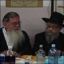 Professor Greene and Rabbi Moshe Feller (right).