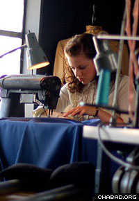 The lead character of Robin Garbose's newest film works in a sweatshop.