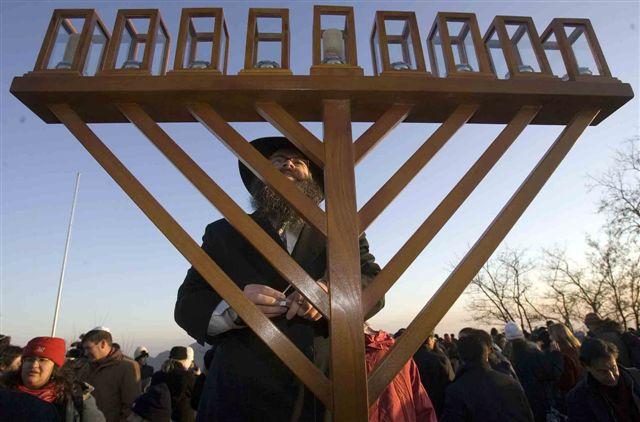 Beijing, China - Publicizing the Chanukah Miracle