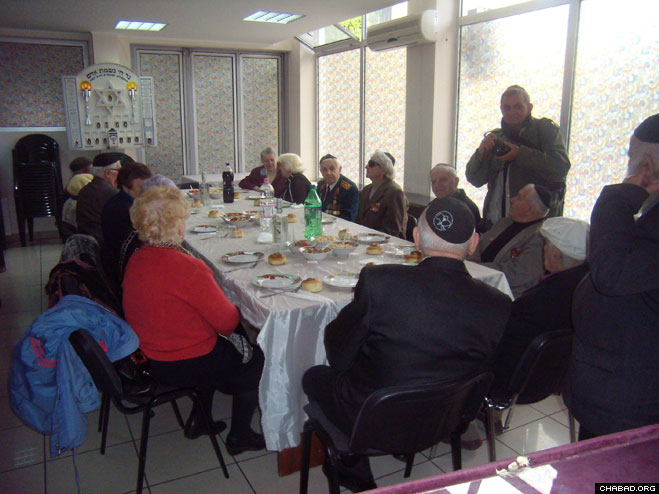 Jewish veterans of World War II come together at Chabad-Lubavitch of Zhitomir every year to celebrate Victory Day, the anniversary of the May 9, 1945 defeat of Nazi Germany by the Russian Army on the infamous Eastern Front.