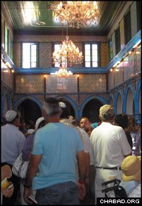 Local tradition on the Tunisian island of Djerba holds that the El Ghriba Synagogue was founded by Jewish priests fleeing the destruction of Jerusalem 2,000 years ago. (File photo)