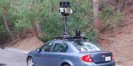 A car-mounted google camera. (Photo: Wikimedia/Jon Delorey)