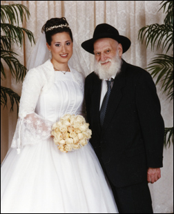 My wife Chana Raizel with Grandpa Mordechai Chaiton.