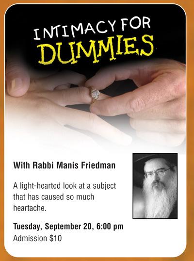 Rabbi Friedman In Kew Gardens Hills: Tuesday, September 20