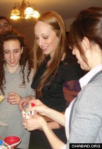 Jewish students light Sabbath candles at Drexel University's new Chabad House.