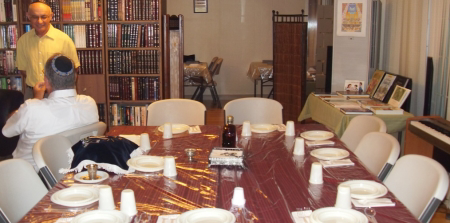 Our Shabbat table set for a feast.