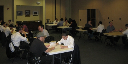 Dozens of people put aside time to taste the authentic yeshivah experience.