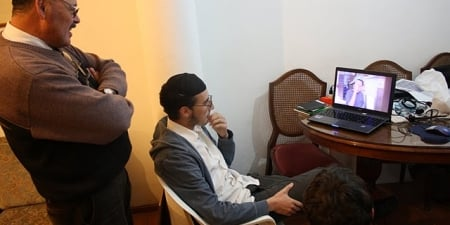 But Meir was able to show him a video of his bar mitzvah.