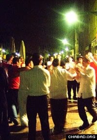 Jewish dancing on the streets of Venice. (File photo)