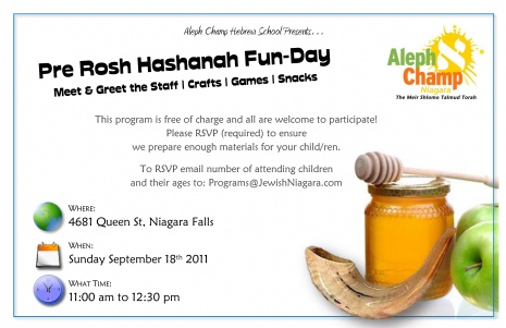Pre Rosh Hashanah Program Design