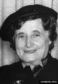 Rebbetzin Chana Schneerson in the United States around the time she wrote her diaries. (Photo: Lubavitch Archives)