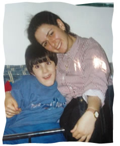 The author with Tal, aged 7