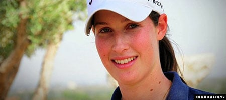 Laetitia Beck plays for Duke University's golf team. (Photo: Yoav Etiel/Hamoshavot Magazine)