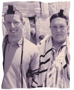 At the Kotel with my father the day of my wedding, 2003.