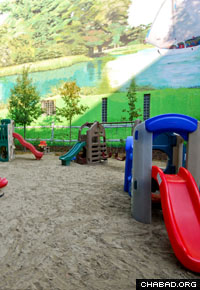 With an attached playground, the new building contains plenty of room for continued expansion.