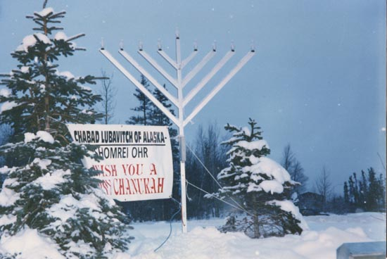 Anchorage, Alaska - Publicizing the Chanukah Miracle