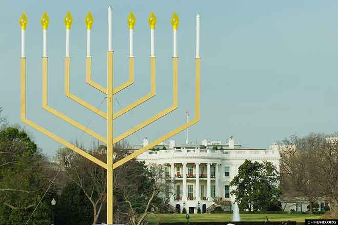 Towering above President's Park, the lighting of the National Menorah has been an American Friends of Lubavitch tradition since the Carter administration.