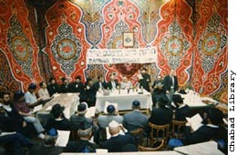 Cairo, Egypt: Celebration of the completion of the Rambam's Mishneh Torah in his synagogue.