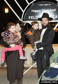 Rabbi Eli and Raizel Rosenfeld arrived in Portugal in 2010. (Photo: Yair Freundlich)
