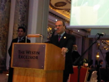 Silvan Shalom al Gala della Fondazione Schneerson, foto Rav Menachem Lazar