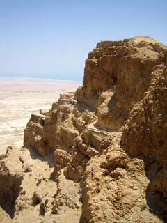 The Masada Fortress overlooking the Dead Sea in the Judean Desert