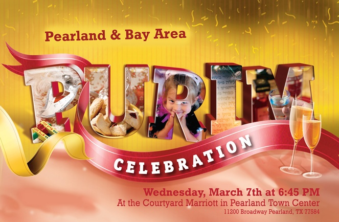 Pearland & Bay Area Purim Celebration! Wednesday, March 7th, 2012, 6:45 pm