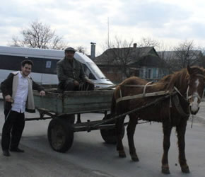 The horse and cart is still a common means of transportation in Gaisin.