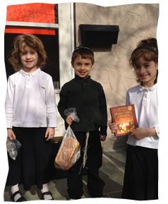 My Children (L-R Hindy, Moishy, and Chana).