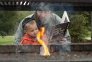 Bread Burning Passover Ceremony