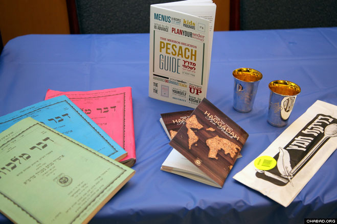 Hundreds of yeshiva students received special kits comprising among other items, unique Passover Haggadahs, for their journeys to 190 different locations around the globe to run Seders on behalf of Merkos L'Inyonei Chinuch, the educational arm of Chabad-Lubavitch.