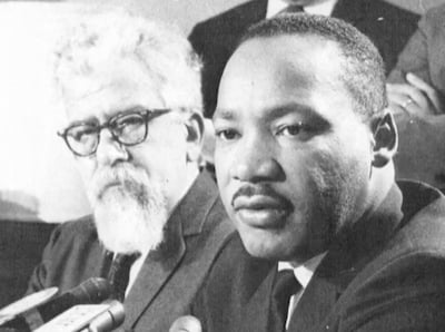 Martin Luther King with Abraham Joshua Heschel