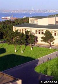 The Ohr Avner Chabad day school in Baku overlooks the Caspian Sea.