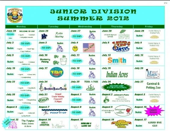 forms  u0026 calendars - camp gan israel
