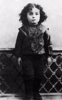 Le Rabbi à l'âge de deux ans