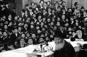 The Rebbe at a Farbrengen