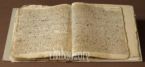 Manuscript written in the handwriting of Rabbi Dovber.