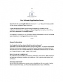 BM Application Form