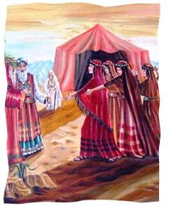"""ציורי תנ""""ך / בנות צלפחד /ציירה: אהובה קליין ©"""