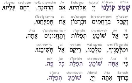 14  Kabalat Tefilah: Shema Koleinu - Prayer - Audio