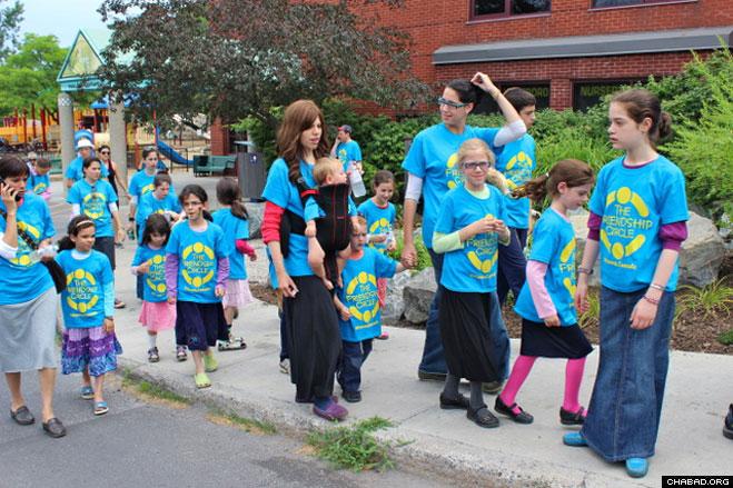 "Participants in the walkathon were given the option to ""wheel, walk, ride or run"" around Ottawa's Dovercourt Park."