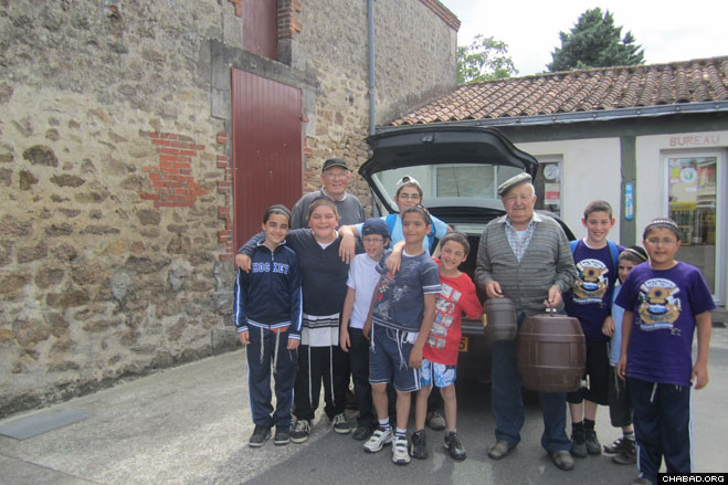 The campers gear up for an exciting three weeks of fun in Bournezauau, France.