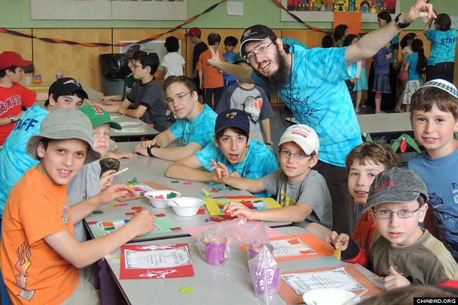 Campers express their artistic sides. Thursday night, campers in third grade and up have the option to stay at cabins at Club Getaway in Kent, Conn. During the day, they'll be trying out adventure activities on an aerial zip line and bungee trampoline, as well as water sports.