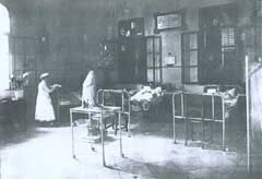 Attending patients at the hospital Dr. Moshe Wallach founded in 1892.