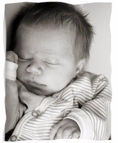 The author's baby boy