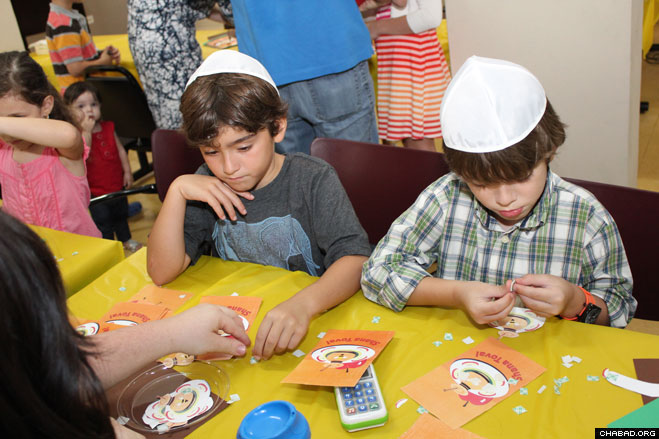 According to organizers, more than 25 children and their parents turned out for the event, which included arts and crafts, a hands-on shofar factory and a video explaining the process.