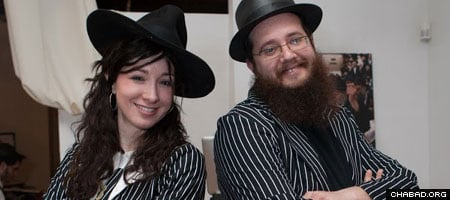Rabbi Yosef Shmuel and Sara Moscowitz run the Chabad House serving the Chicago neighborhood of Bucktown-Wicker Park.
