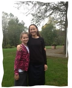 The author with her daughter