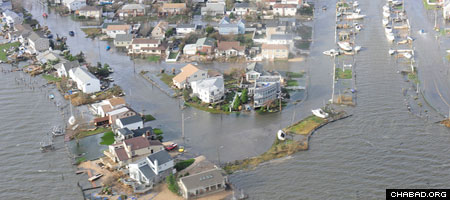 Areas of Long Island, N.Y., remain devastated, as seen during an overflight with Coast Guard Air Station Cape Cod, Mass., following Hurricane Sandy. (U.S. Coast Guard/Petty Officer 2nd Class Rob Simpson)